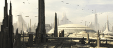 Fototapet - Star Wars - Coruscant Buildings 1