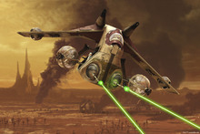 Canvastavla - Star Wars - Republic Attack Gunships