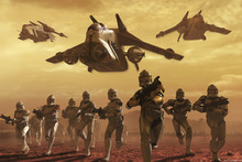 Wall mural - Star Wars - Clone Troopers on Geonosis