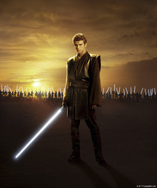 Fototapet - Star Wars - Anakin Skywalker Sunset