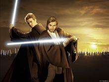 Canvastavla - Star Wars - Anakin and Obi-Wan Sunset