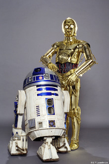 Canvasschilderij - Star Wars - R2-D2 and C-3PO Studioshoot
