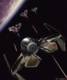 Canvasschilderij - Star Wars - Starfighters Battle