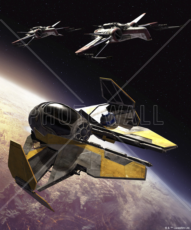 star wars arc 170 clone starfighters wall mural photo wallpaper photowall. Black Bedroom Furniture Sets. Home Design Ideas