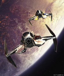 Fototapet - Star Wars - Starfighters over Planets 2