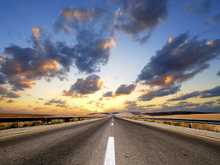 Wall mural - Road under Dramatic Sky