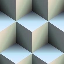 Canvas-taulu - Steelblue Cubes