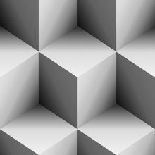 Canvas-taulu - Steelblue Cubes - b/w