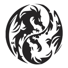 Fototapet - Circle Dragons