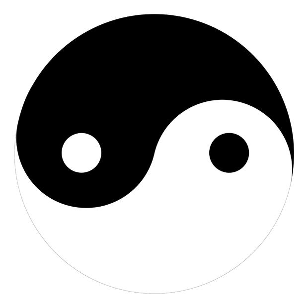 Yin yang decoration murale papier peint photo photowall for Chambre yin yang