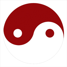 Canvastavla - Yin-Yang - Red