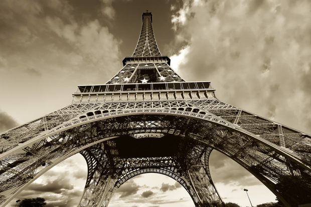 Eiffel Tower Images Black And White: Wall Mural & Photo Wallpaper