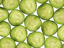 Canvas print - Slices of Cucumber