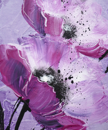 Canvas print - Violet Poppy Harmony