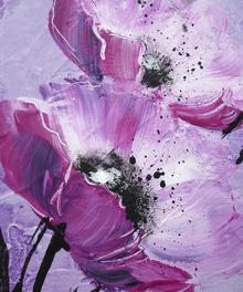Wall mural - Violet Poppy Harmony