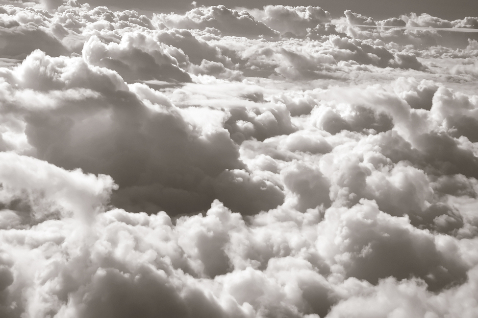 Over Clouds - Sepia