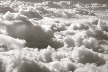 Wall mural - Over Clouds - Sepia