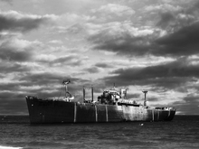 Wall mural - Ship Wreck - b/w