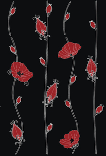 Wallpaper - Wallflower - Black