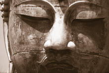 Canvas print - Blue Buddha - Sepia