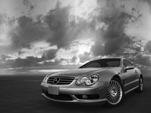 Canvas print - Mercedes-Benz SL55 - b/w