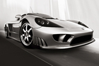 Canvas print - Saleen S7 - b/w