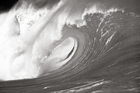 Wall mural - Great Wave - Sepia