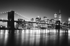 Fototapet - Brooklyn Bridge - b/w
