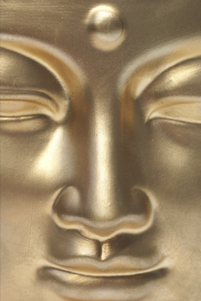 Fototapet - Golden Buddha Close Up
