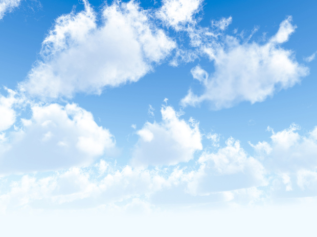Fluffy clouds wall mural photo wallpaper photowall for Clouds wall mural