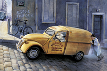 Impression sur toile - Car In Paris