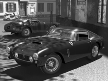 Wall Mural - Classic Sports Car BW