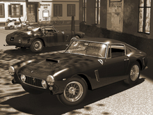 Wall Mural - Classic Sports Car Sepia