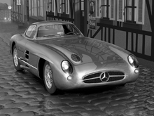 Canvas print - Mercedes 300 SLR