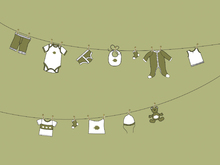 Mural de pared - Laundry - Olive