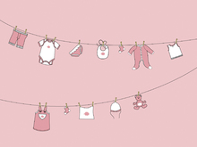 Mural de pared - Laundry - Pink