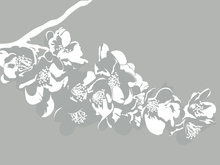 Wall mural - Flora - Light Grey
