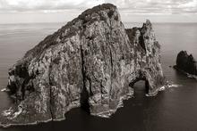 Fototapet - New Zealand Island - Sepia
