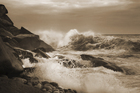 Fototapet - High Wave - Sepia