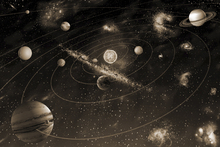 Wall mural - Solar System - Sepia