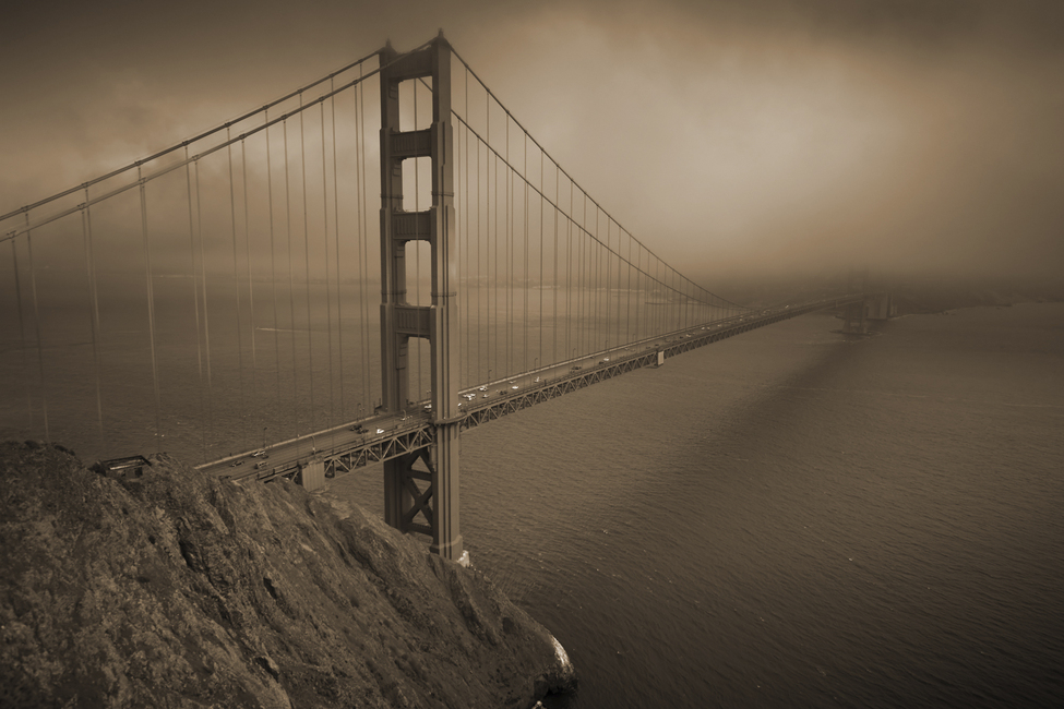 Golden Gate - Sepia