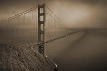 Valokuvatapetti - Golden Gate - Sepia