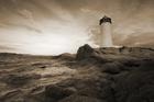 Fototapet - Sardinia Lighthouse - Sepia