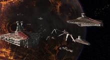 Canvastavla - Clone Trooper - Republic Attack Cruisers