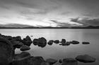 Fototapet - Lake Tahoe - b/w