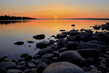 Canvas print - Northern Sweden Midnight Sun