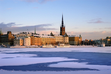 Canvastavla - Winter in Stockholm, Sweden