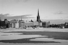 Valokuvatapetti - Winter in Stockholm - b/w