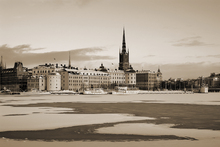 Valokuvatapetti - Winter in Stockholm - Sepia