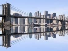 Canvas-taulu - Brooklyn Bridge Clear Blue Day